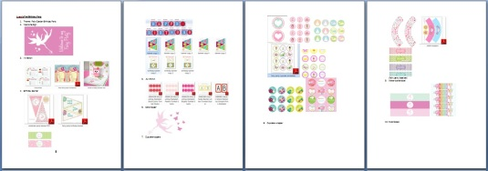 the pictures of all my printables...