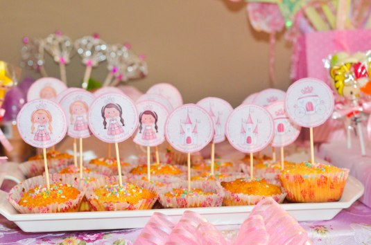 macaroons with the cupcake fairy toppers