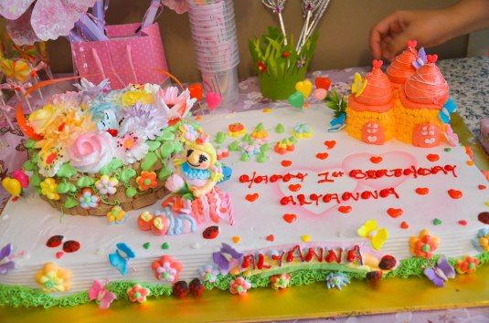 Lyann's Fairy Castle birthday Cake from Sunflower Bakery
