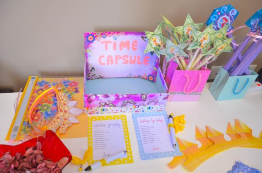 TIME CAPSULE: messages and mementos for her to be opened when she reach her 18th birthday!