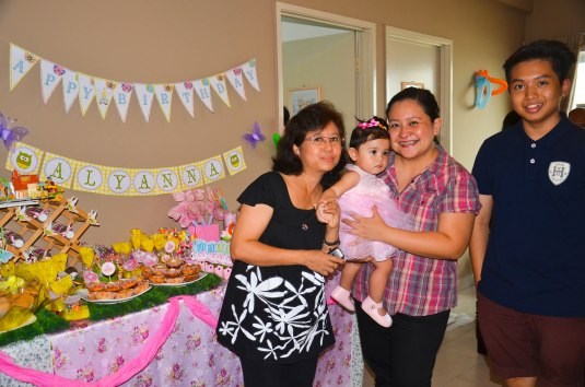 Madam Khin and son Leo