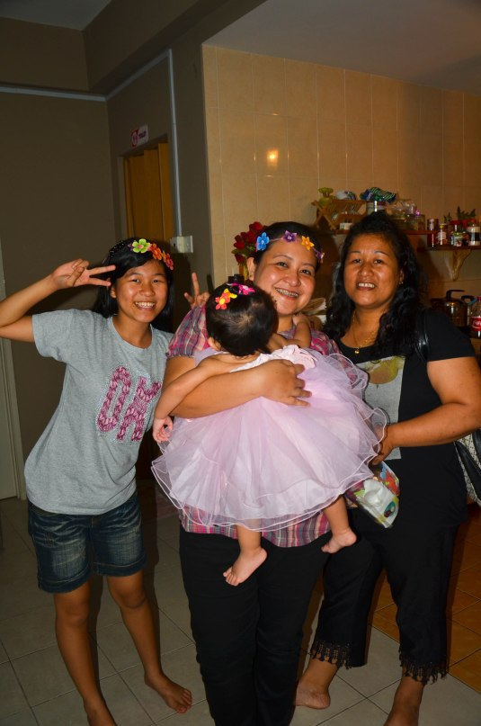 with Ate Raquel's family
