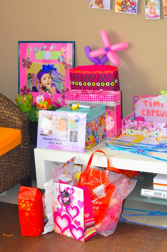my piles of gifts