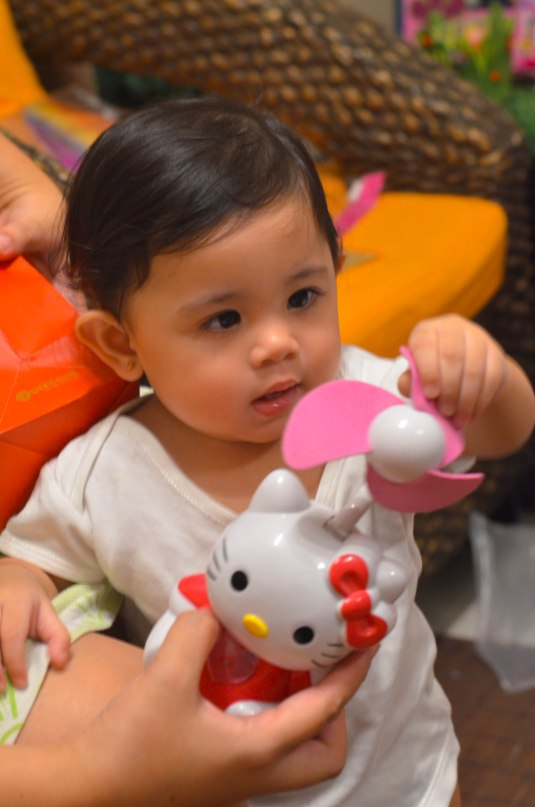 thank you Tita Lolit for my Hello Kitty fan!
