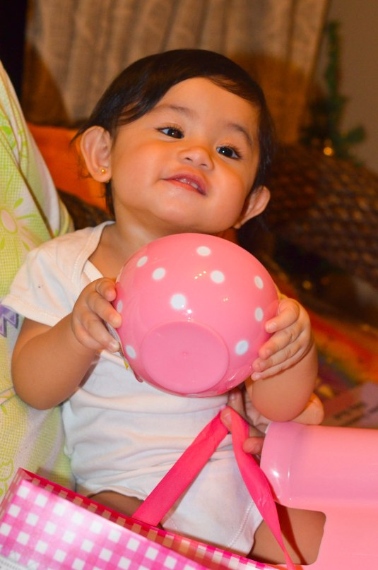 Thank you for my bowl, utensils and chairs, Aunti Khin!