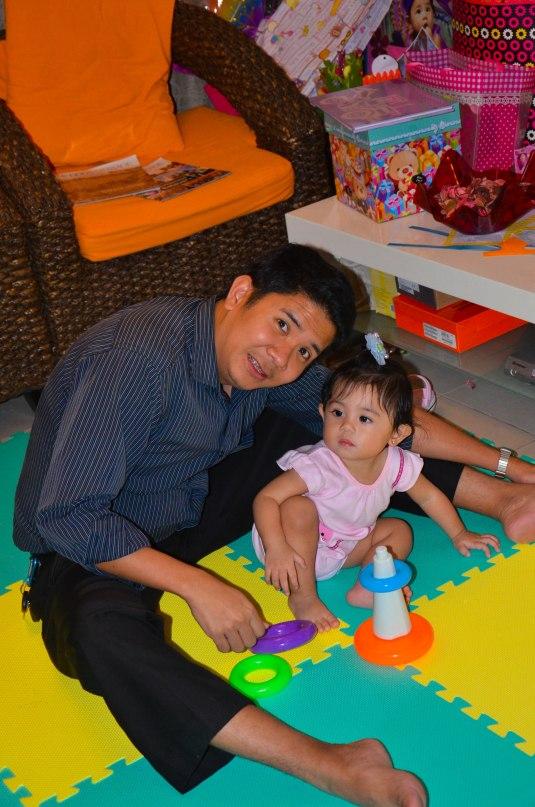playing with Ninong Carlo
